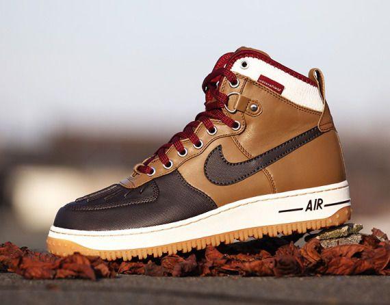 Nike Air Force 1 Duckboot - Umber/Velvet Brown-Sail-Team Red -
