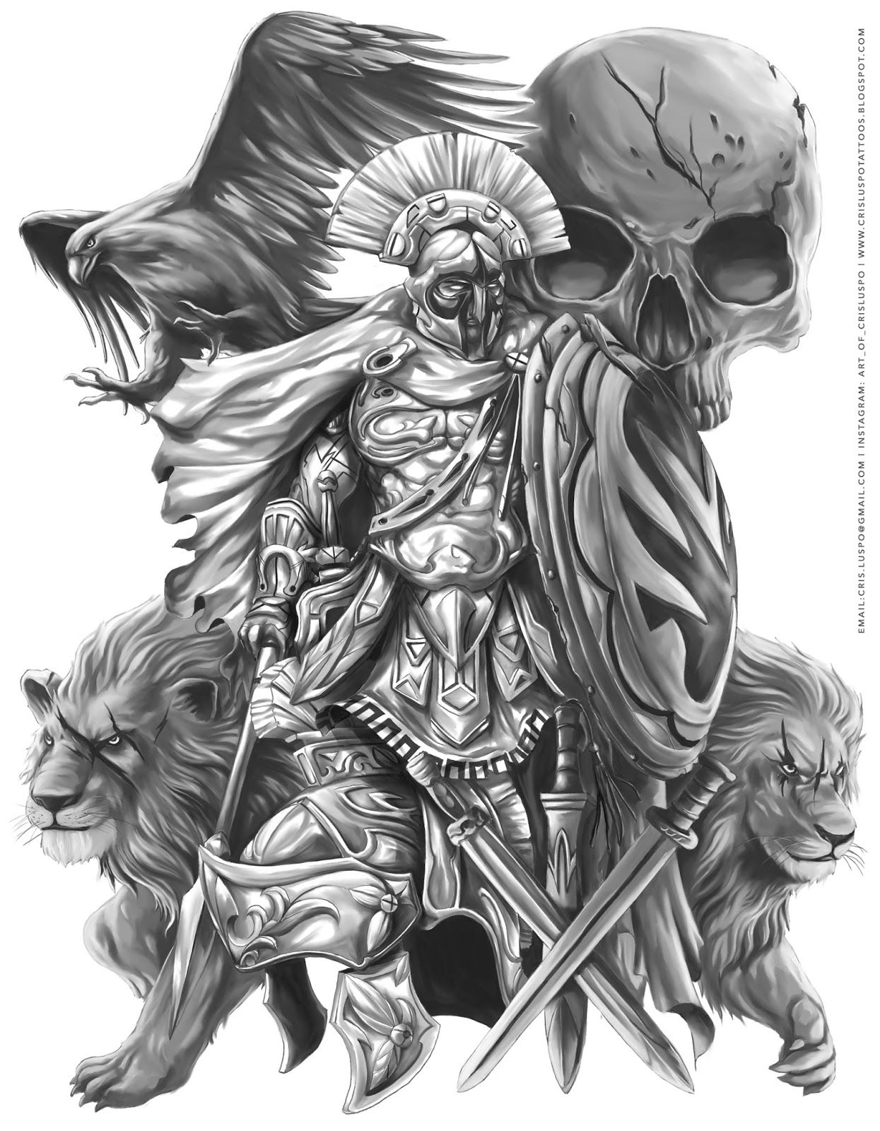 Ares God Of War Google Search Black And Gray Tattoos Pinterest