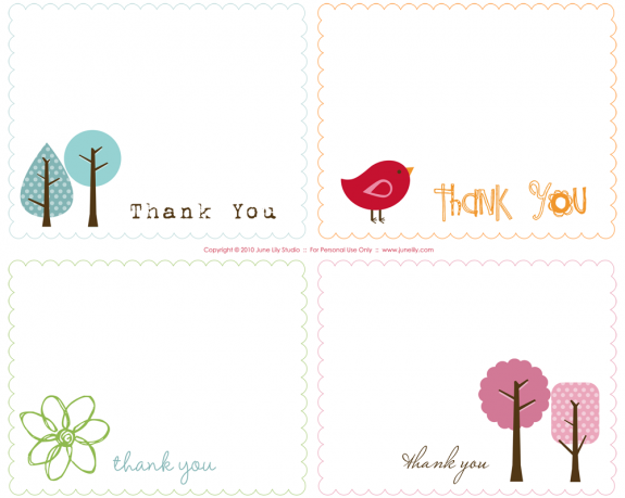 Free Printable Polka Dot Thank You Cards | Free printable