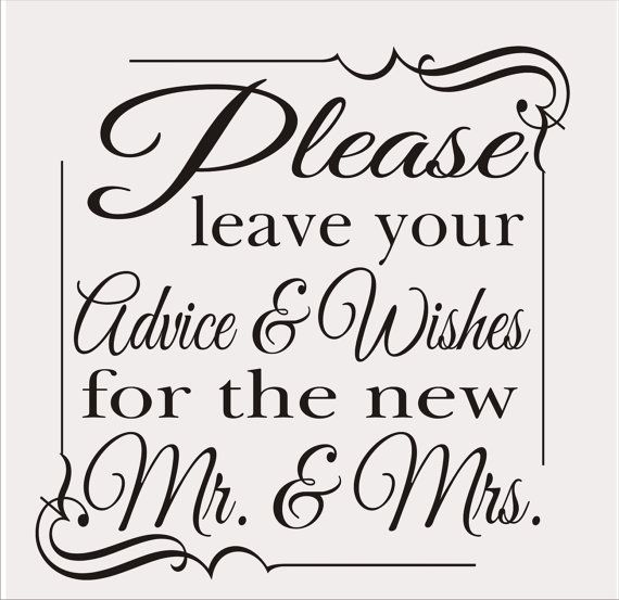 Please Leave Your Wishes Wedding Sign Stencil 4 Sizes Available Create Your Own Wedding Signs Sign Stencils Wedding Signs Wedding Stencils