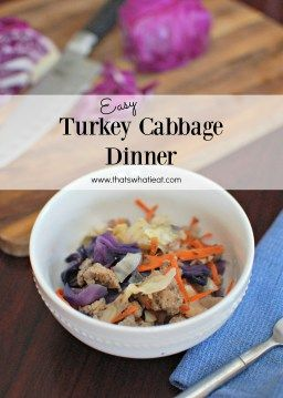 Faster than fast food easy turkey cabbage dinner recipe faster than fast food easy turkey cabbage dinner earn prizes for building healthy habits forumfinder Images
