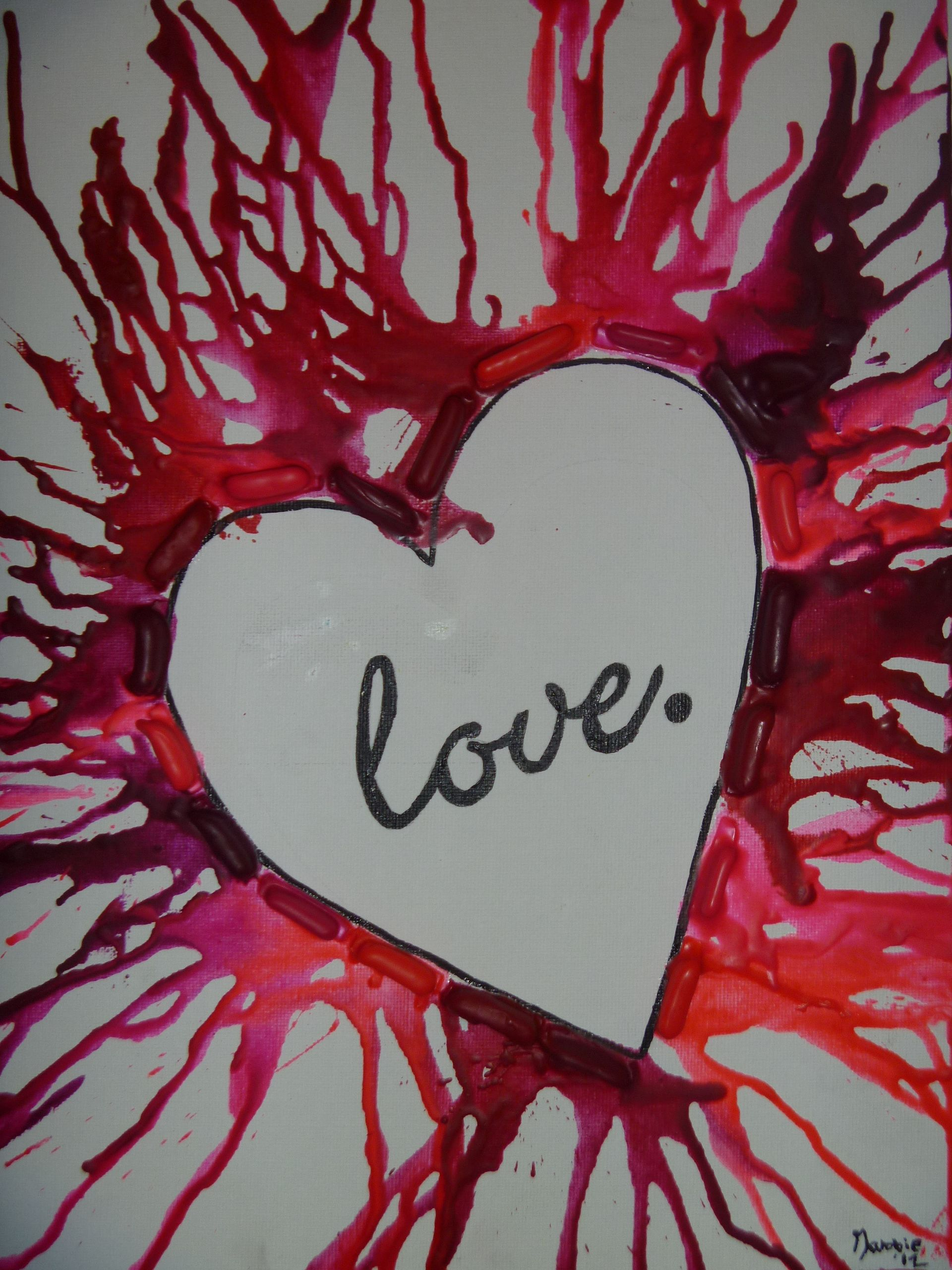 I Did This Love Melting Crayon Art For My Best