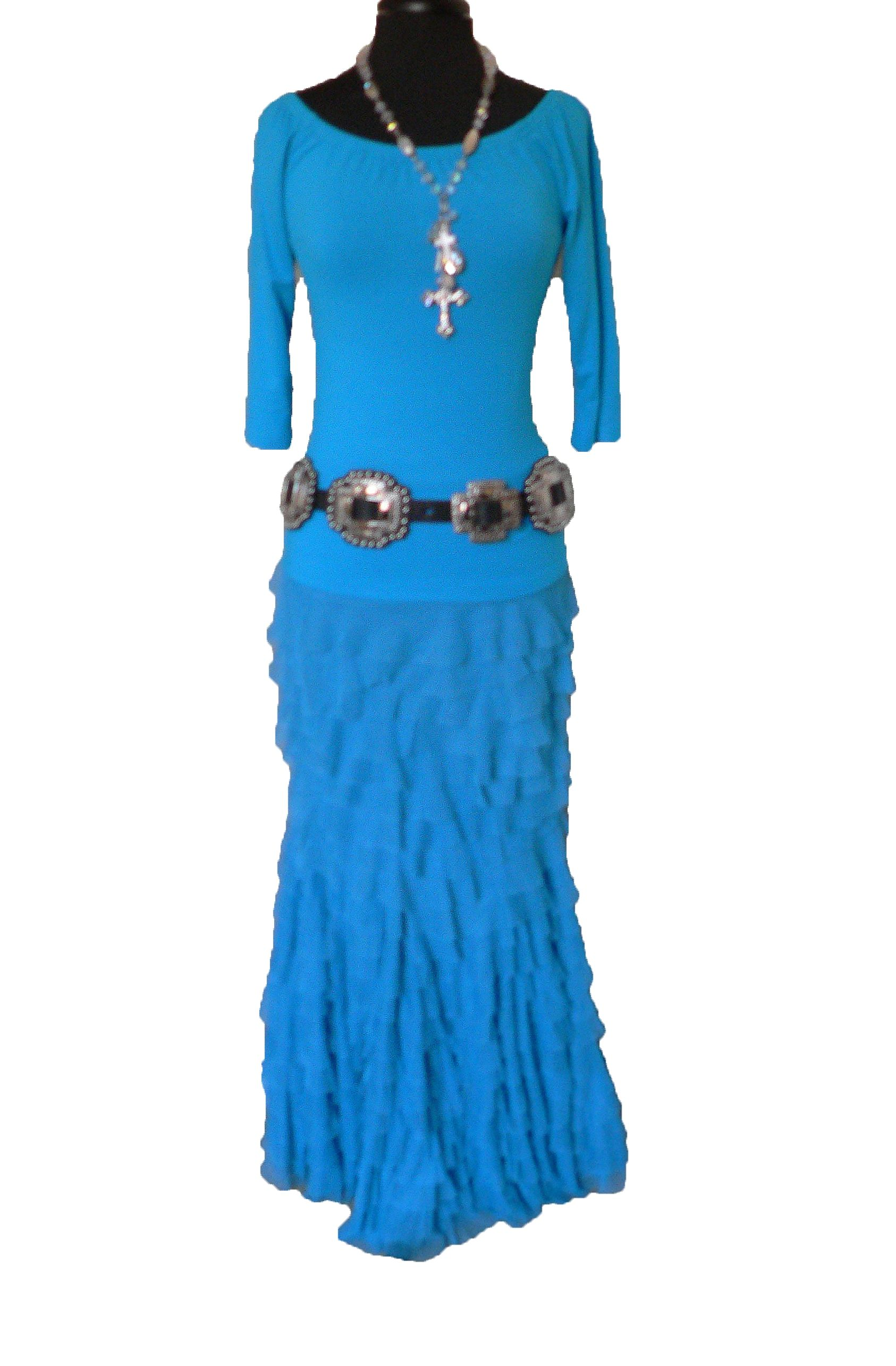 Colorful Turquoise With Romantic Rufflesmy Favorite Sexy Outfit