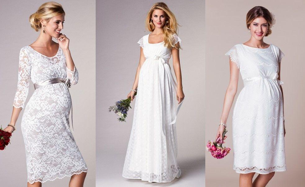 Brautkleider für schwangere Bräute in kurz und lang. Romantische ...