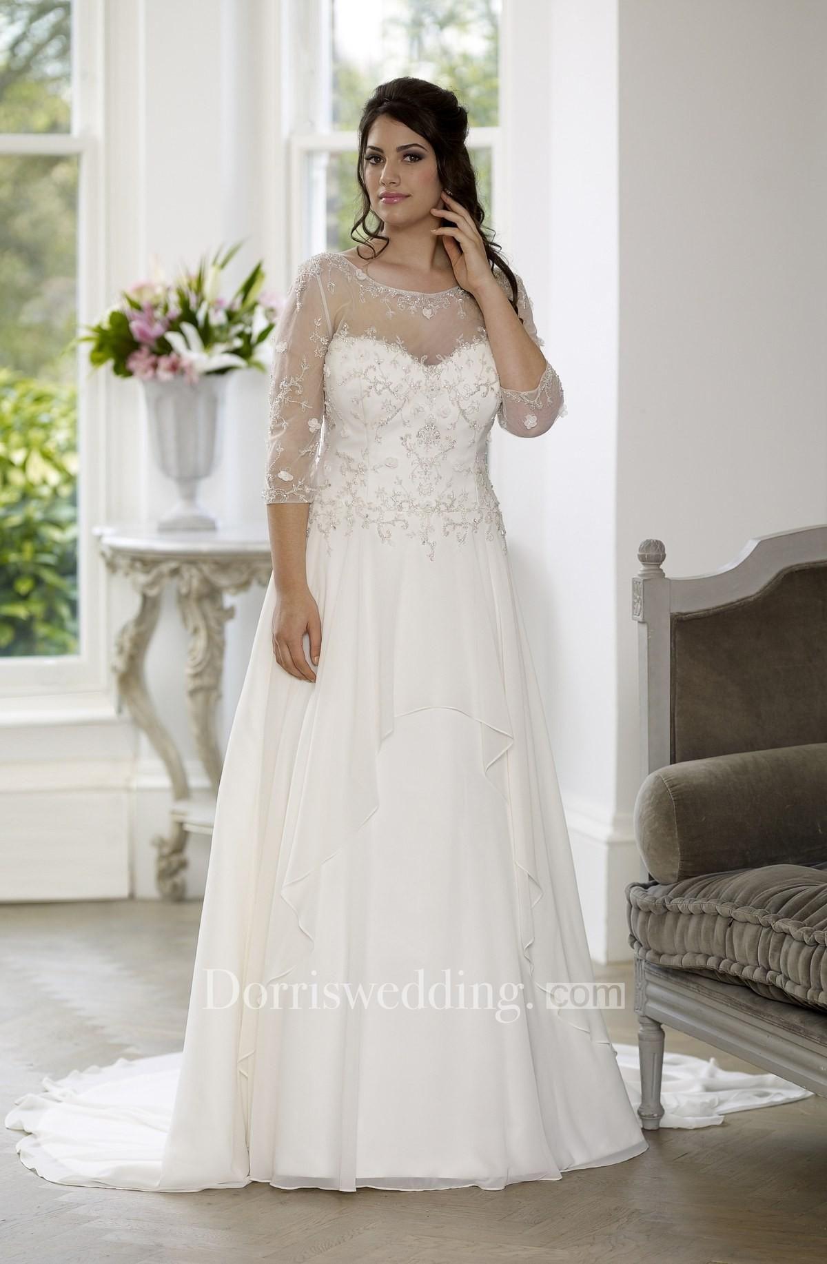 Dorris wedding dorris wedding aline floorlength scoop neck