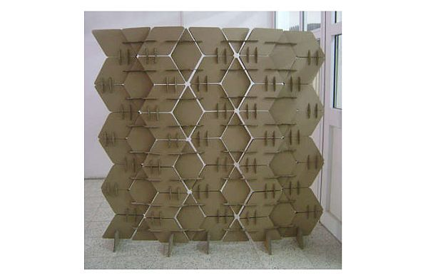 How to make your own cardboard room divider craftiness Pinterest