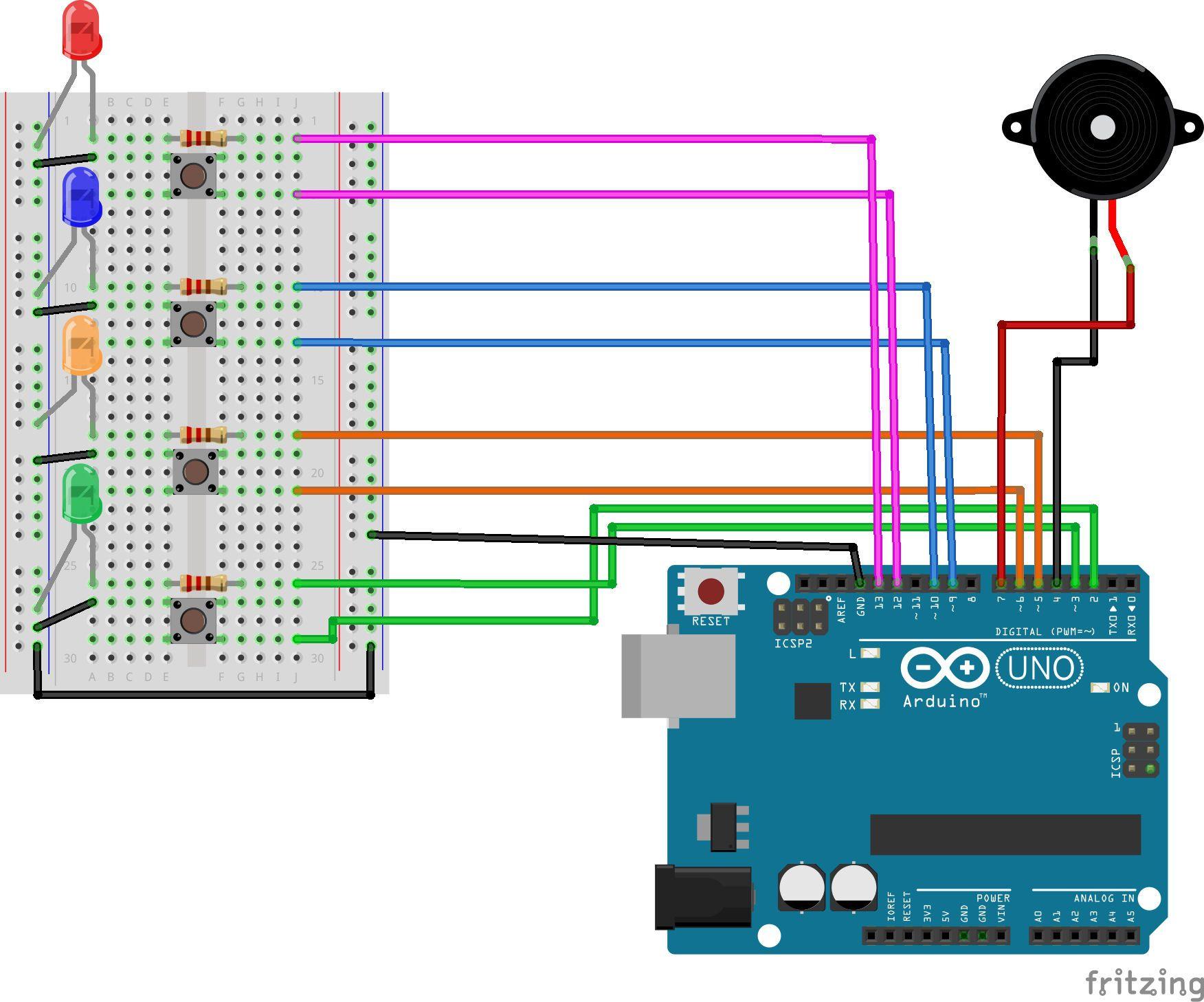 Arduino Led Memory Game