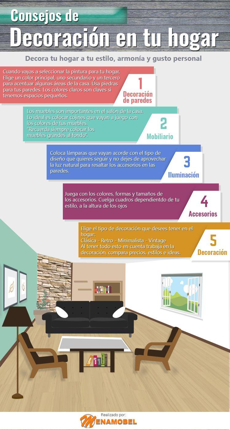 Consejos trucos e ideas para decorar tu casa infografia - Metro cuadrado decoracion ...