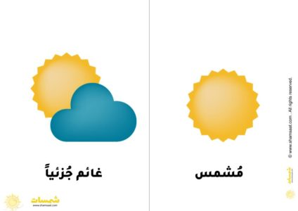 بطاقات حالة الطقس الفصول الأربعة للاطفال 1 Juju