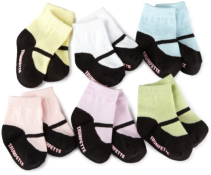 Trumpette Baby Girls/' Sock Set-6 Pairs Mary Jane Assorted Pastels