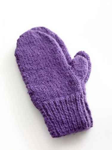 Easy Knit Mittens pattern by Lion Brand Yarn | Knitted ...