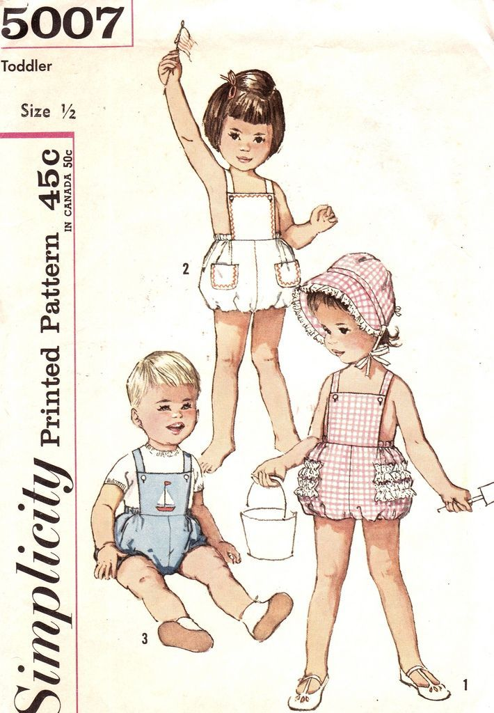 Vintage 1960s Toddlers Romper Sunsuit and Bonnet Includes Transfer ...
