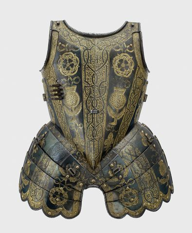 Armour garniture of Henry, future Prince of Wales, for the field, tourney, tilt and barriers: Breastplate with fauld and tassets