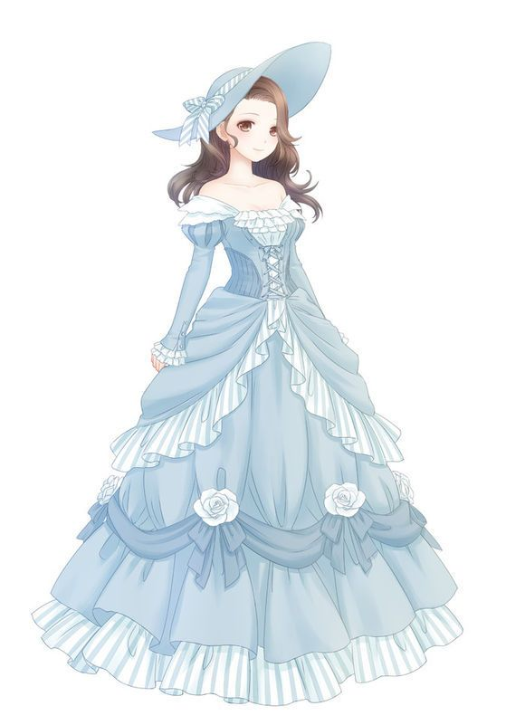 southern belle anime lady art