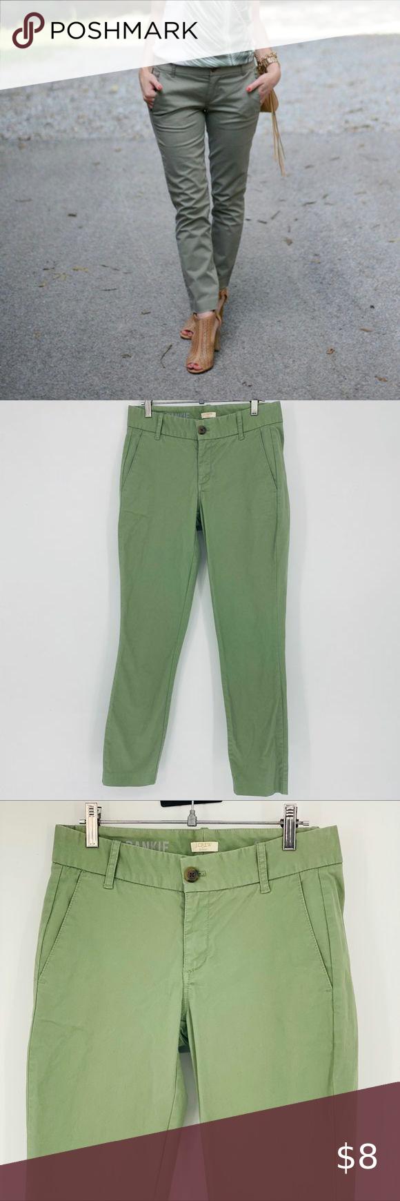 J.Crew Frankie skinny chino pants sage J.Crew Frankie skinny chino pants sage Sz.00 Excellent used c