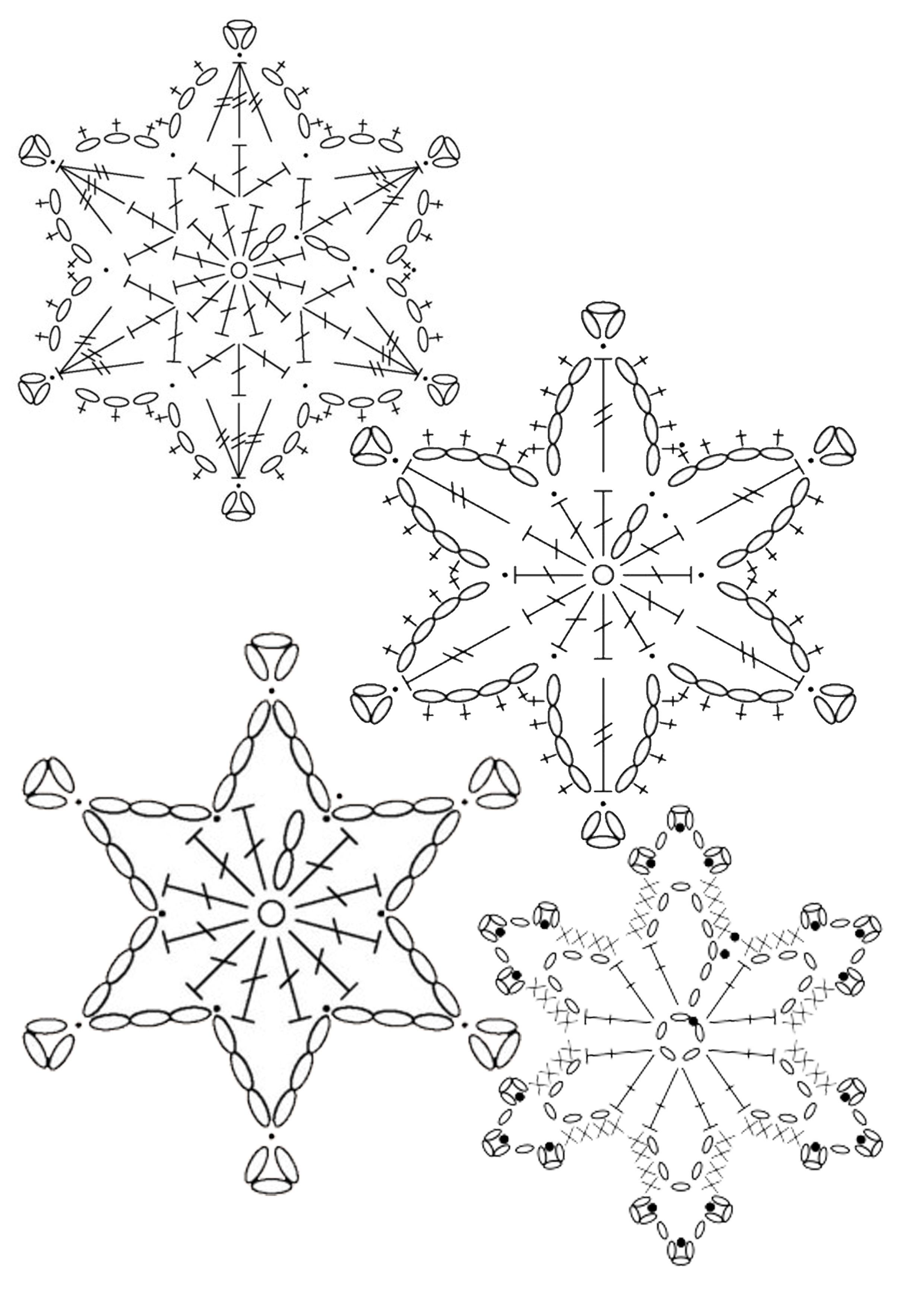 Flocon 005 | крючком | Pinterest | Navidad, Ganchillo y Adornos