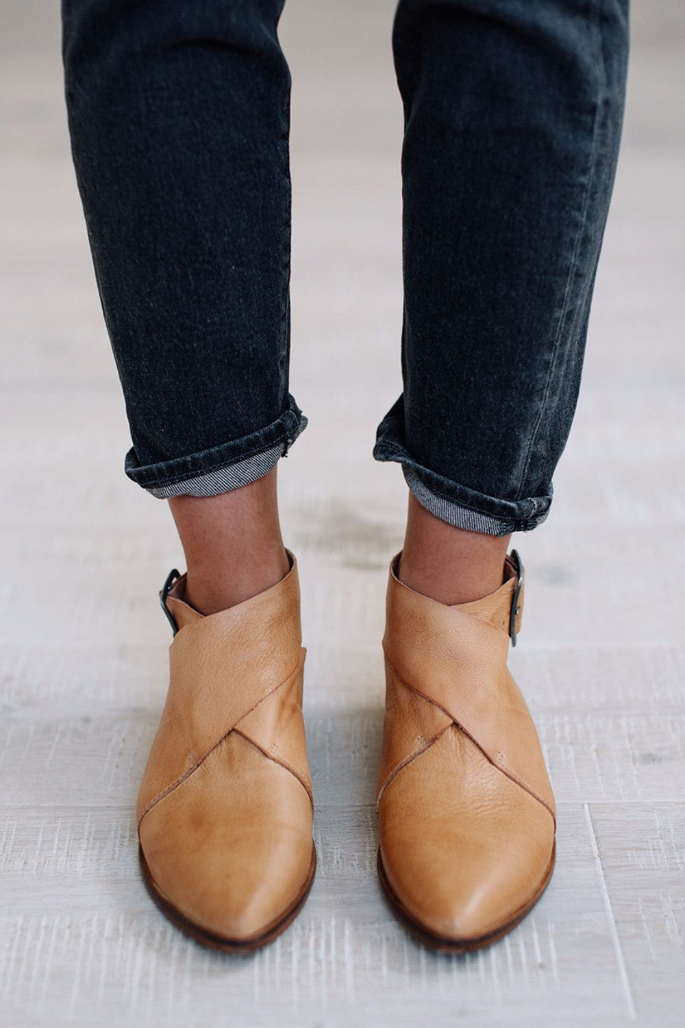 1fd0ff9dfbba Bryce Wrap Flat in Taupe by Free People