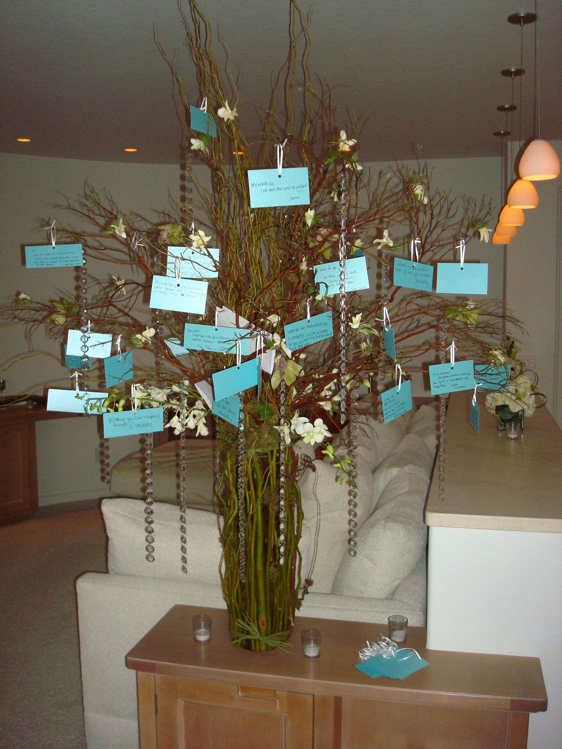 Notes hung on a wish tree from our guests:)