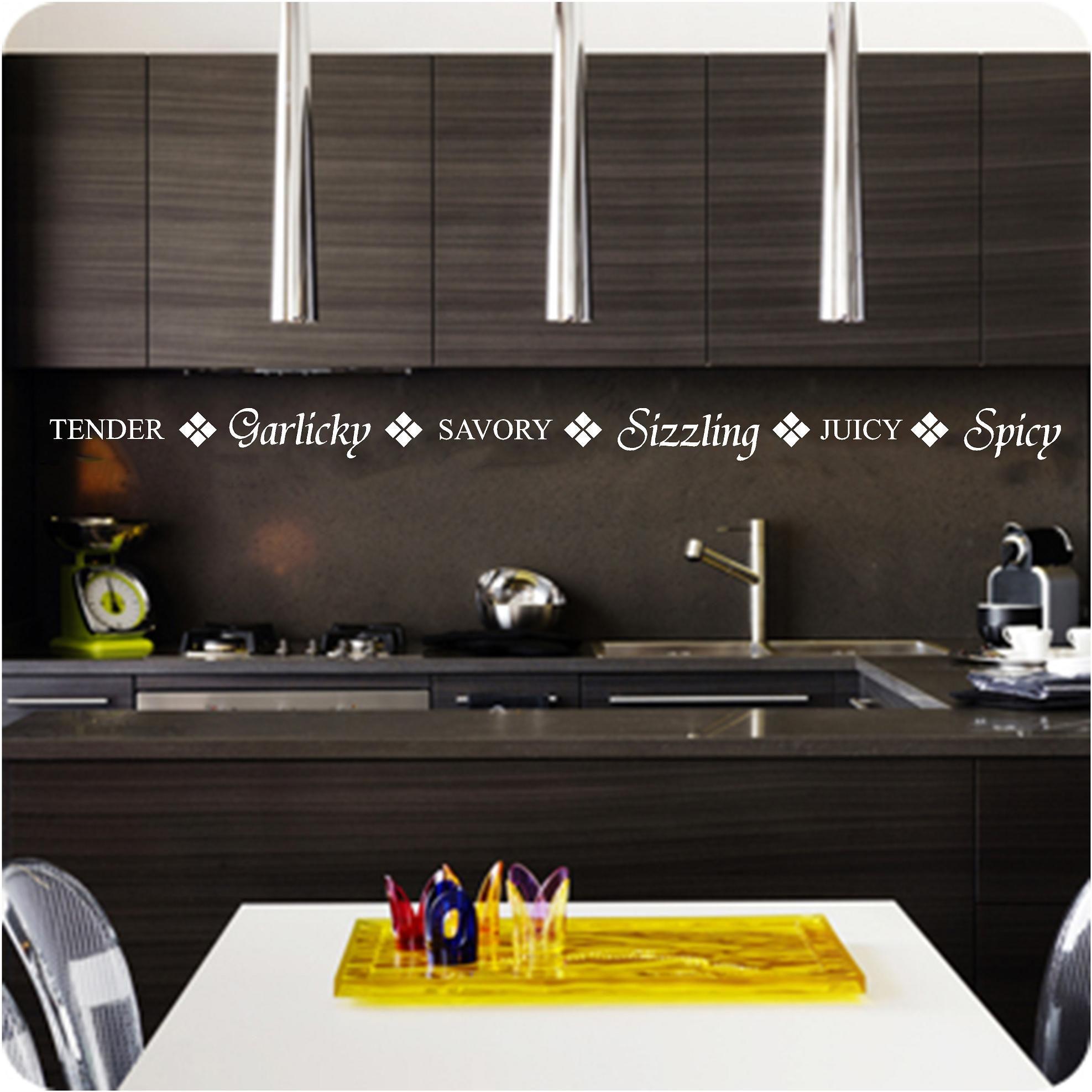 Kitchen Border Words Vinyl Wall Art Decals Free Uk P P 10 99