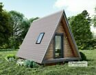 Details about Modern Tiny House Floor Plan Vaulted Ceiling 1 Bedroom 1 Bath with 572 sf
