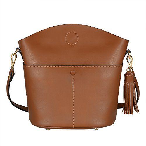 3770b8ee9187 SALE PRICE -  39.99 - S-ZONE Women s Small Cowhide Genuine Leather Purse  Handbag Tassel Crossbody Shoulder Bag Upgraded Version