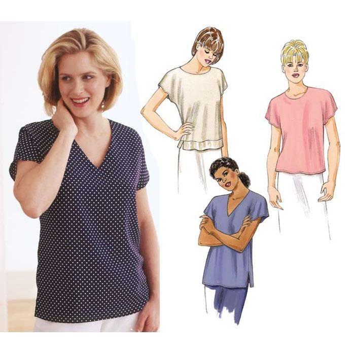 Kwik Sew Tops w/Cap Sleeves Pattern | Sewing | Pinterest | Kwik sew ...