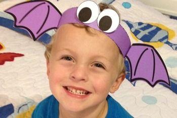 Printable Halloween costume. Bat hat for kids