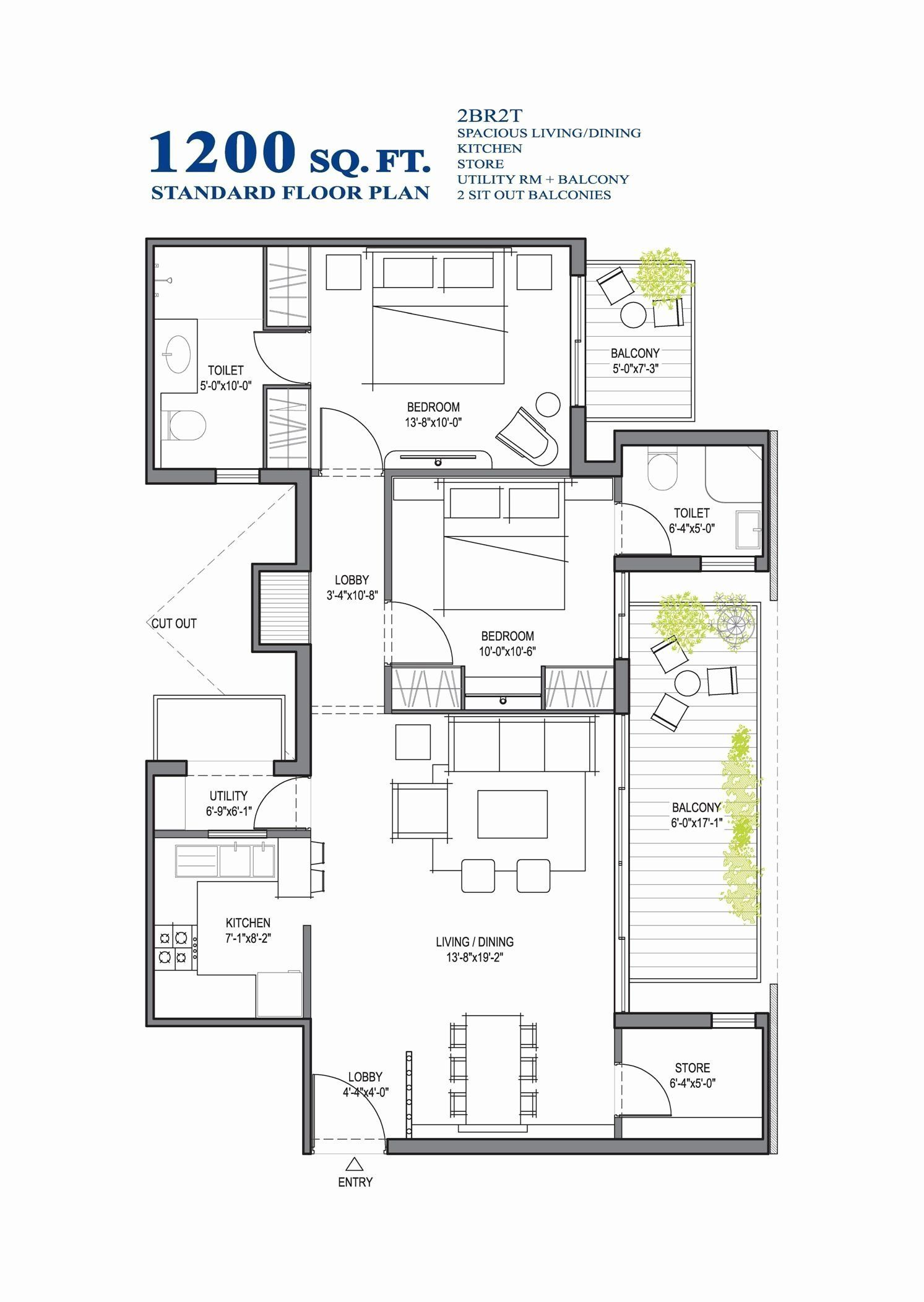 1200 Square Feet Home Design Fresh Small House Floor Plans 1000 To 1200 Sq Ft In 2020 Modern House Floor Plans Basement House Plans Small Modern House Plans