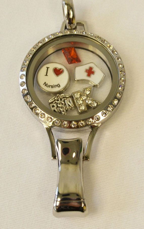 dd547e86773 I Love Nursing Charm Set, Choose Caduceus with or without RN, and ...