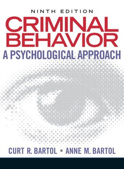 Criminal Behavior A Psychological Approach 118 00 Forensic Psychology Psychology Books Psychology