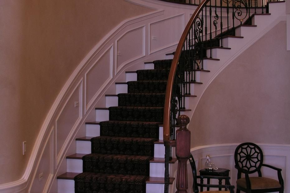Best Elegant Curving Staircase Cost Details For This New Home 400 x 300