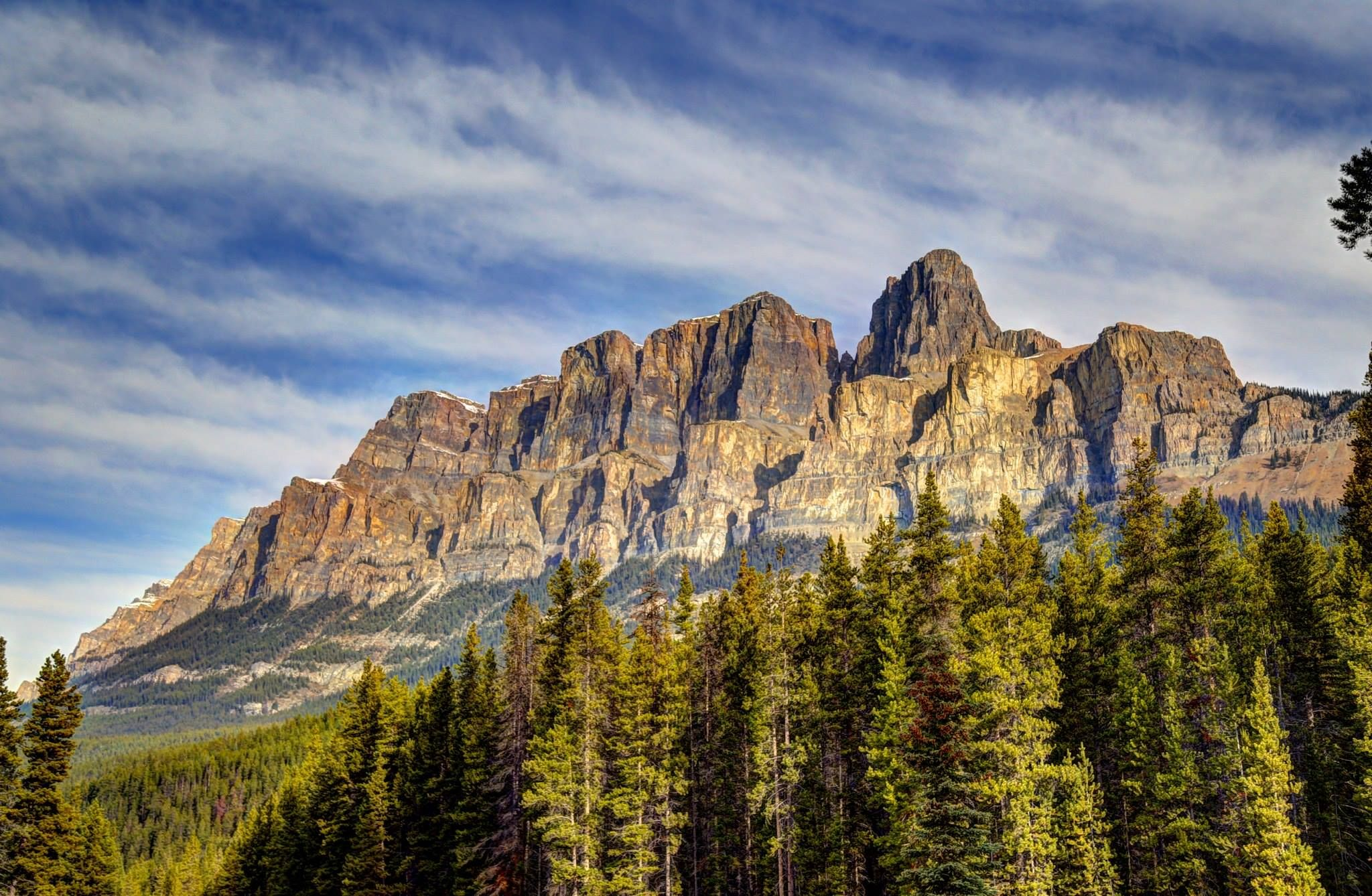 Castle Mountain on the Banff Parkway on the way to Lake Louise