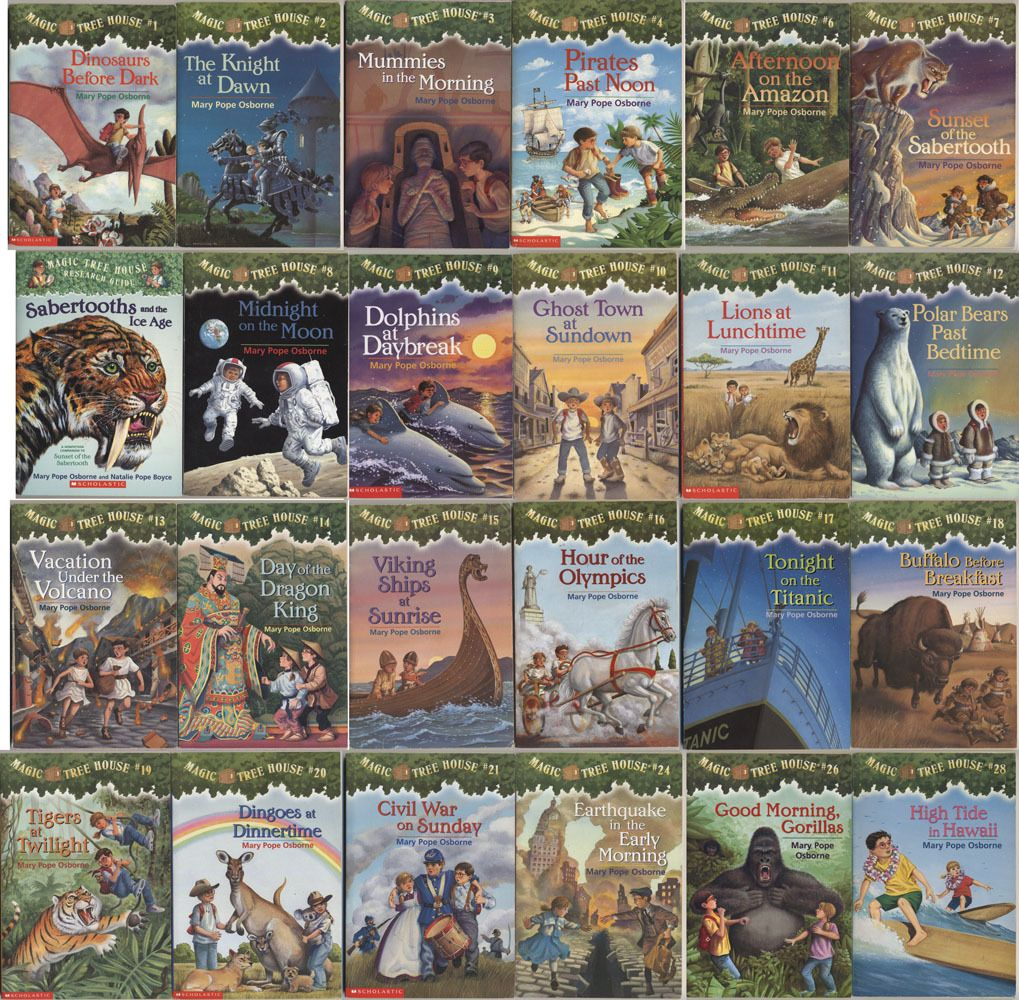magic tree house series - i love these! they were my favorite when