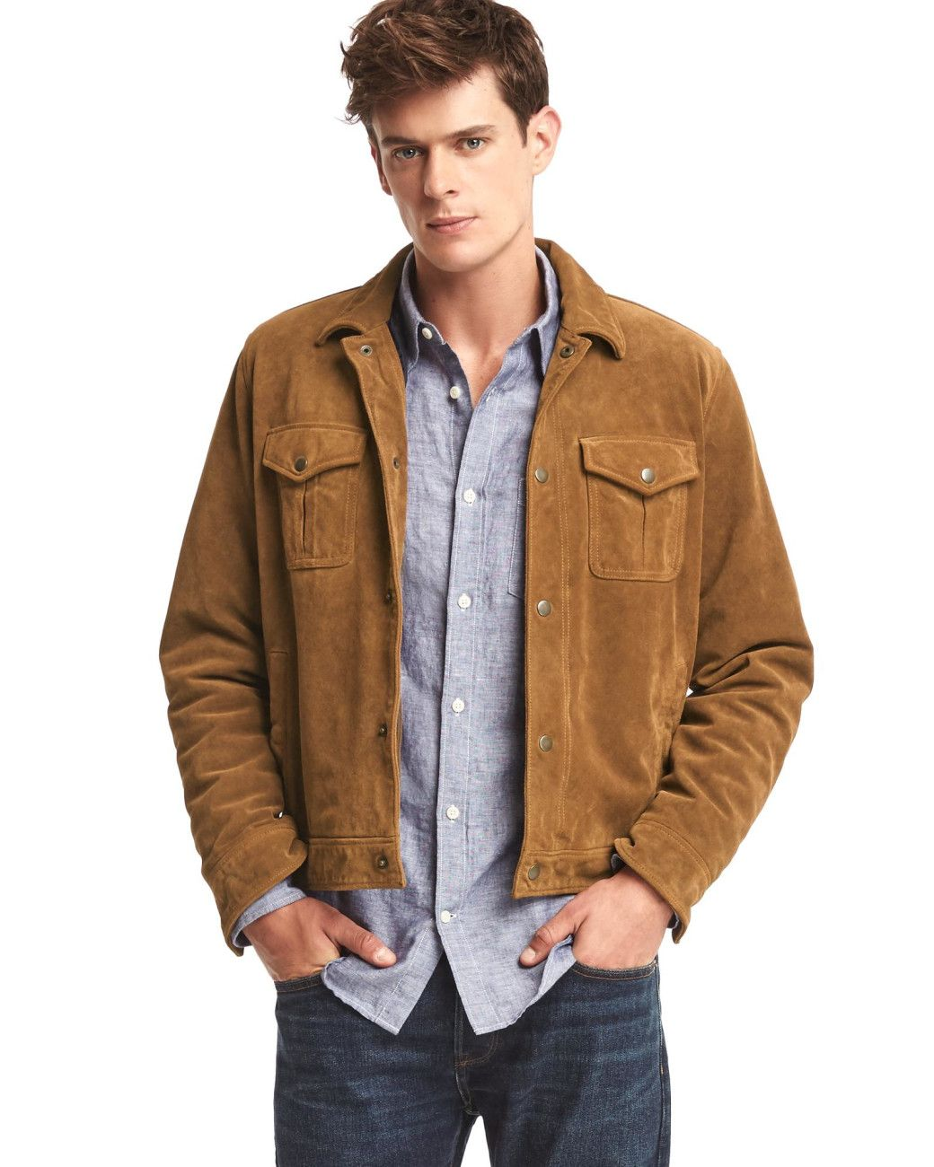 4f771510e Men's Suede Trucker Jacket   MEN'S AW16/17 Jackets and Coats ...