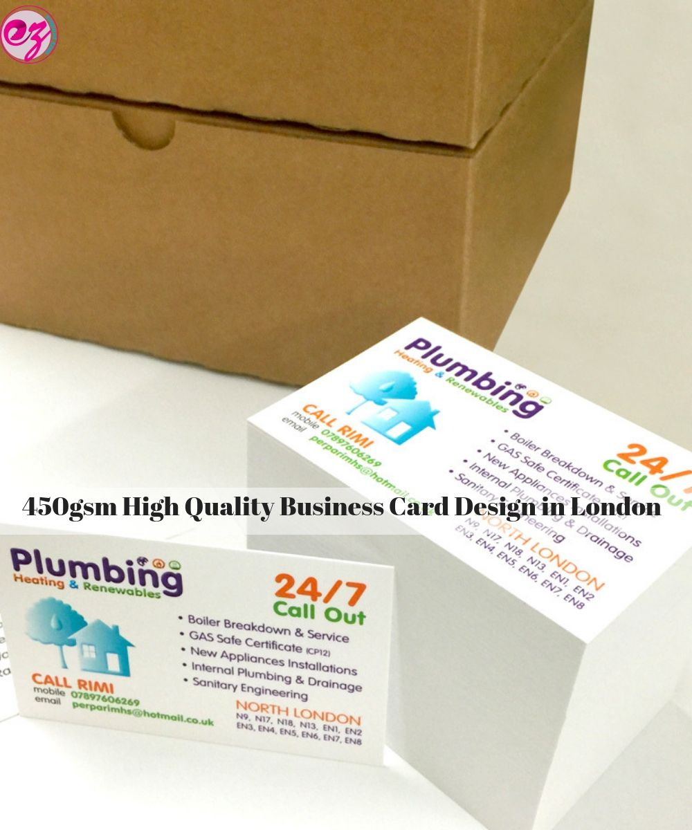 Instant Printed 450gsm High Quality Business Card Design In London