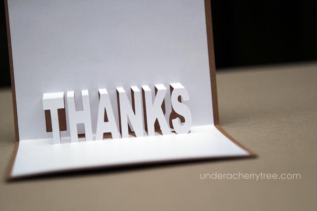 Free Downloads Jin S Pop Up Thank You Cards Under A Cherry Tree Pop Up Karten Karten Diy Danke Karte