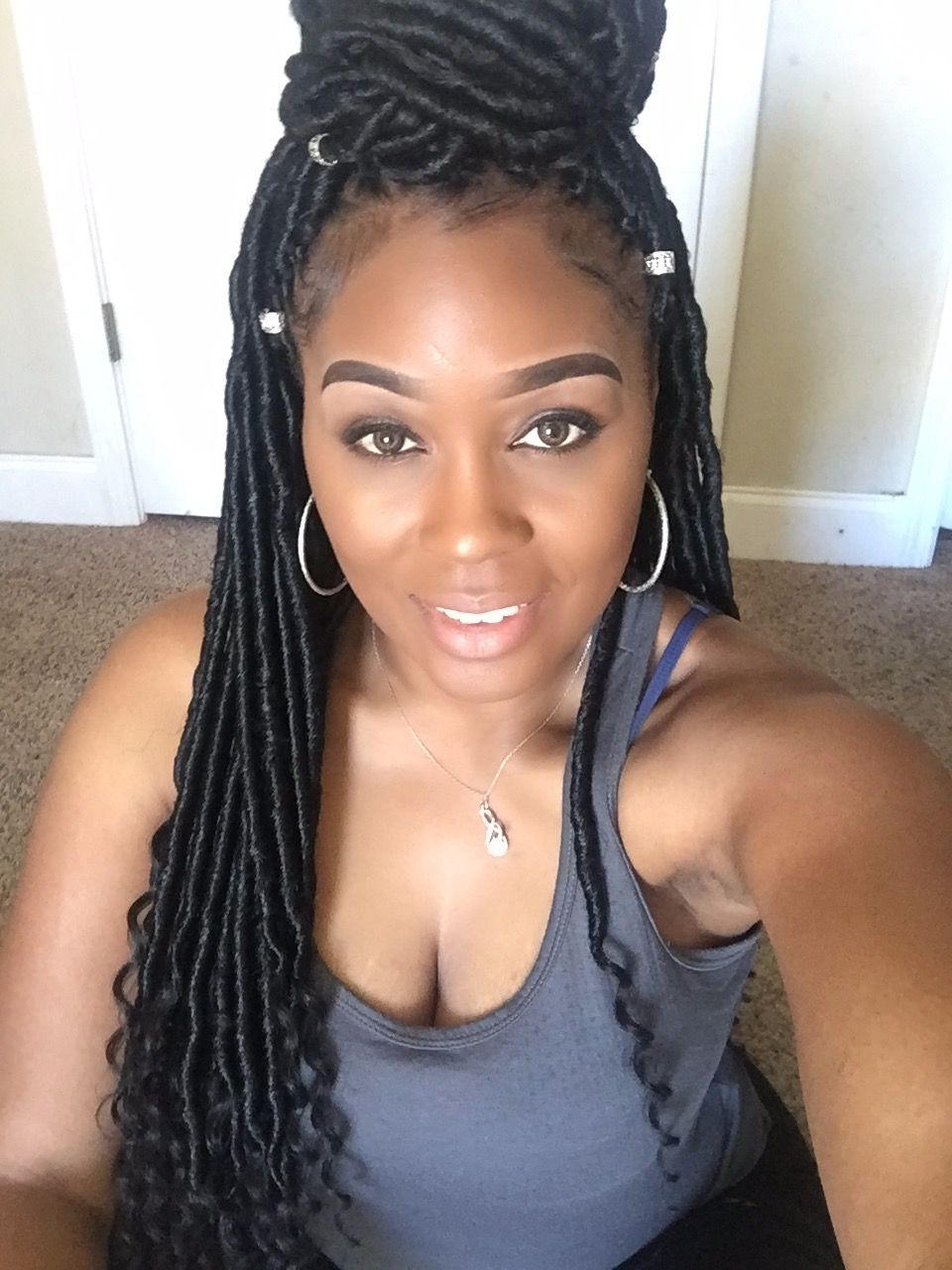 Faux Locs Crochet With Curly End Https Www Moyocart Com