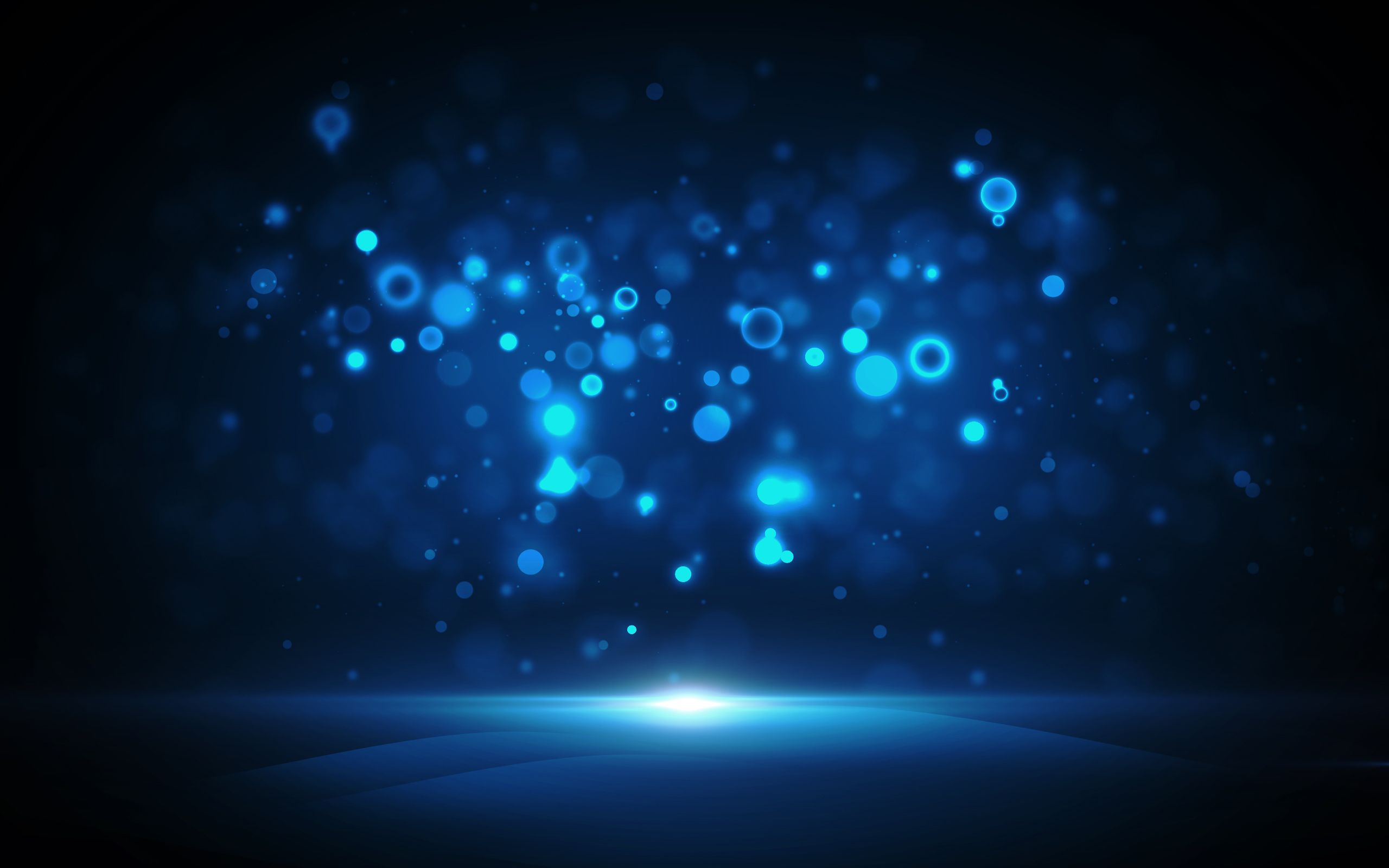 Circles Blue Dark Bokeh Blurred Abstract Backgrounds Colorful