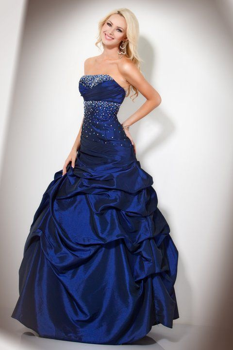 Dark Blue Ball Gown Prom Dresses - Missy Dress
