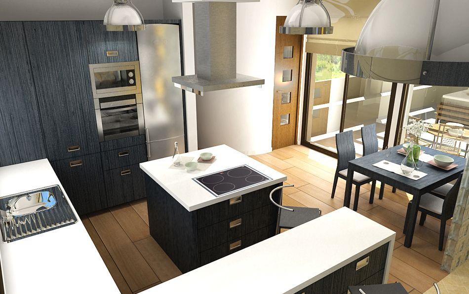 Decoraci n de una cocina comedor cocinas pinterest for Cocina comedor moderna