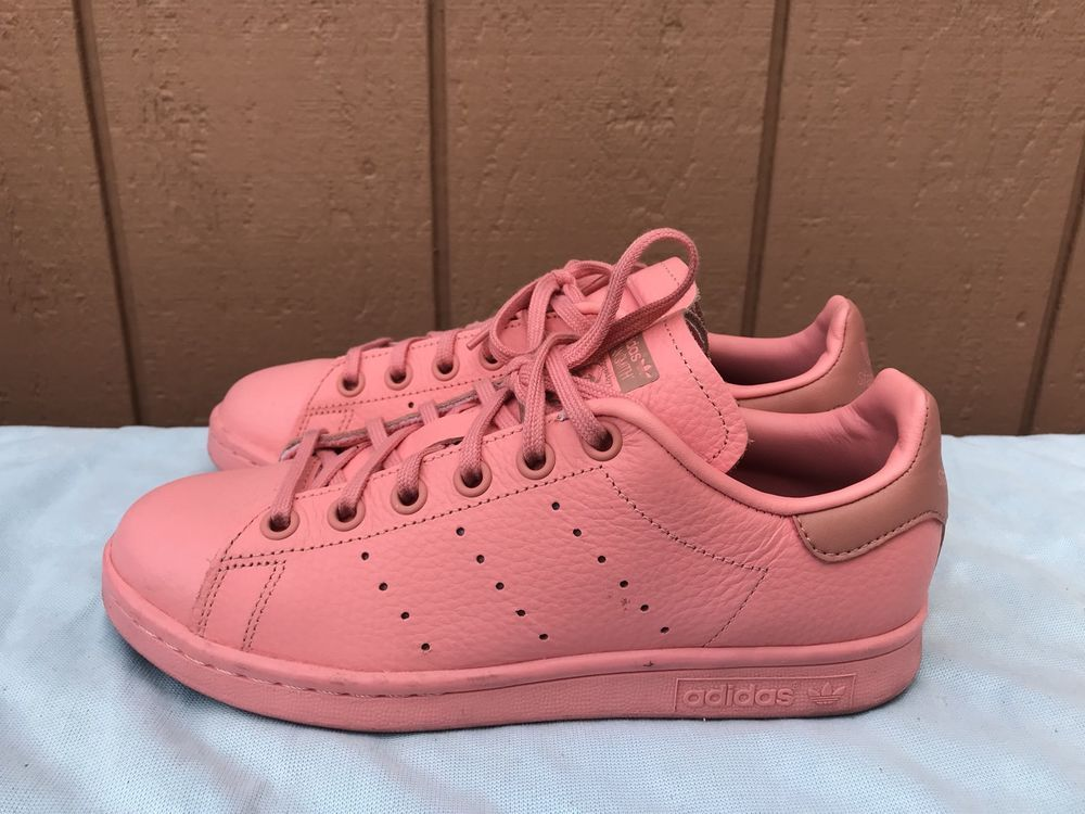the latest 62468 1a812 eBay Sponsored Adidas Originals Stan Smith Girls Youth US 4 Running Shoe  Sneaker Deep Pink A4