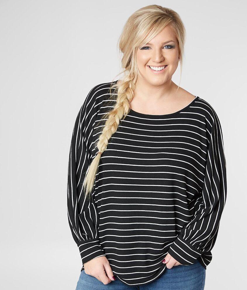 15fe0edb39008e Women's Striped Dolman Top - Plus Size Only in by Daytrip., Wome in ...