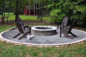Diy Fire Pit I Like The Gravel Around The Fire Pit And That It S Raised Not Just A Whole In The Gr Backyard Fire Outdoor Fire Pit Designs Fire Pit Backyard