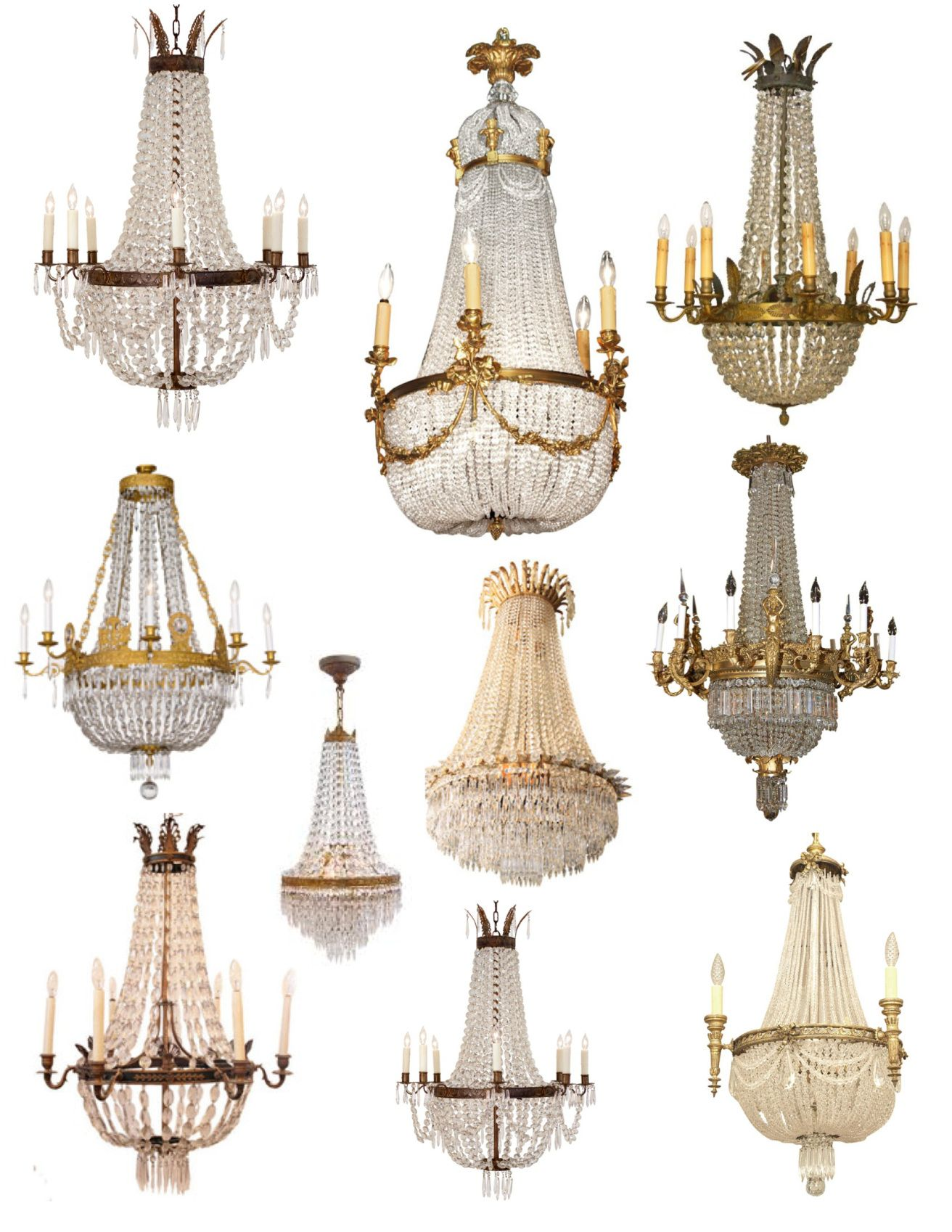 "Crowned"" Magnificence The French Empire Crystal Chandelier"