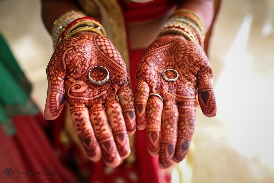 Wedding Rings Wedding Bands Henna art Mendhi hands Bridal Henna