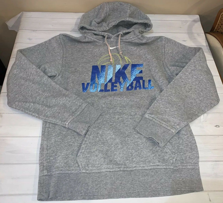 Nike Volleyball Hoodie Sweatshirt Size Small S Gray Blue Logo Cool In 2020 Nike Women Sweatshirt Volleyball Hoodie Nike Sweater Womens