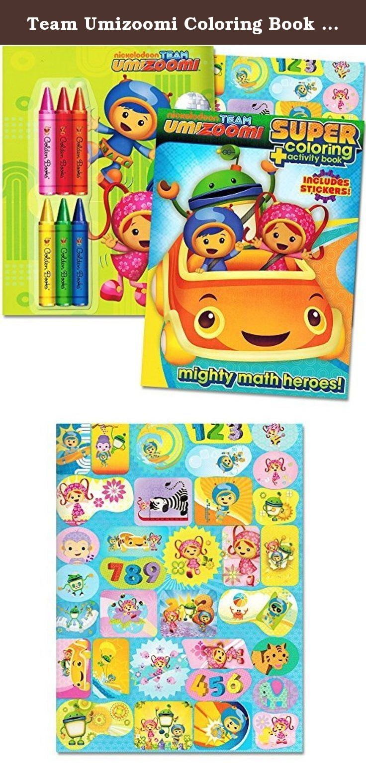 Team Umizoomi Coloring Book Super Set 2 Coloring And Activity Books Over 30 Stickers And Jumbo Toddler Cray Coloring Book Set Toddler Crayons Team Umizoomi