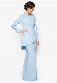 Kate Baju Kurung from Jovian Mandagie for Zalora in blue_1