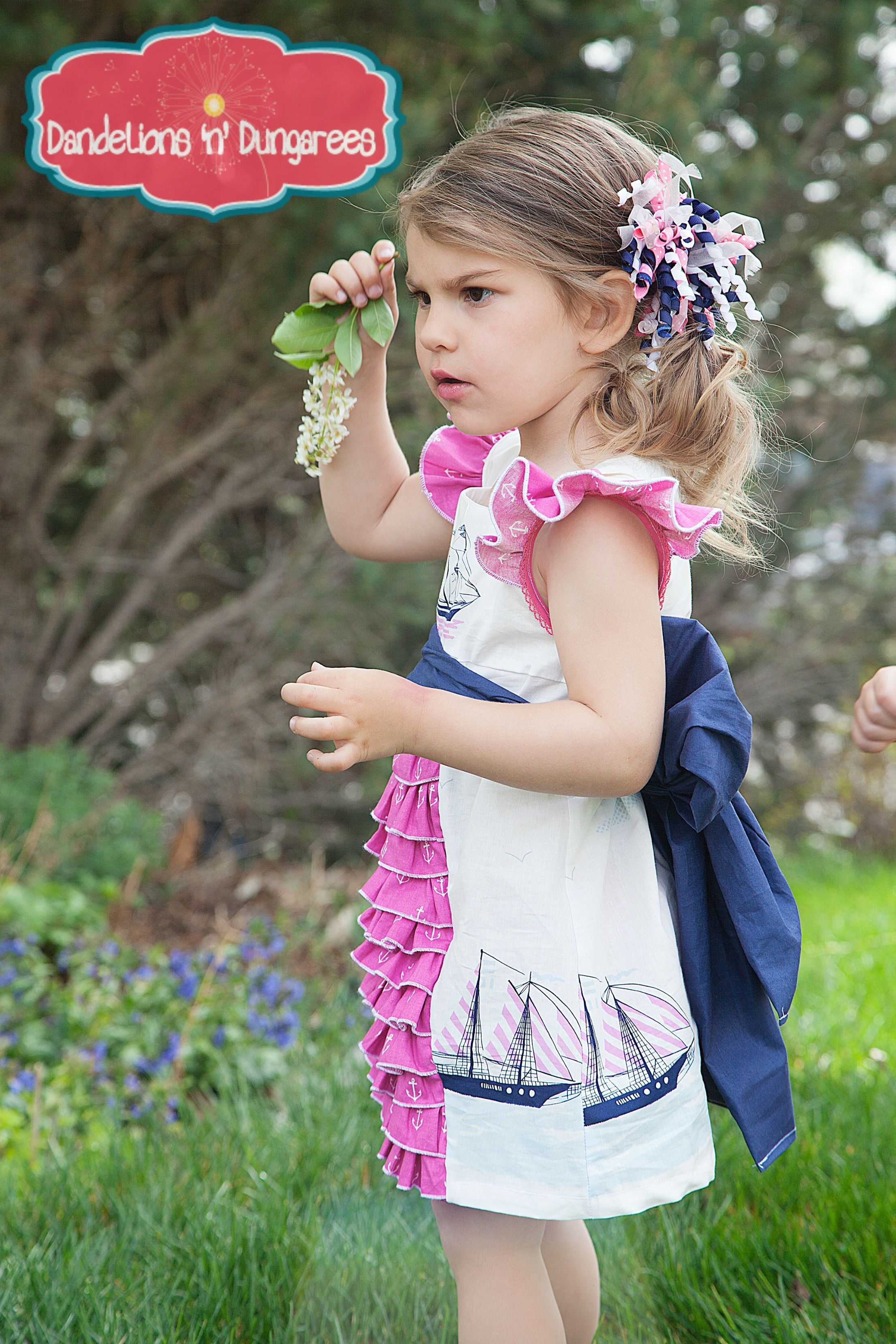 Baby pink dungaree dress  fairytale frocks and lollipops  dandelions and dungarees