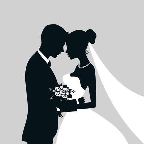 African American Bride And Groom Silhouette Www Imgkid
